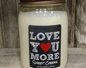 Sweet Cheeks, husband gift, wife gift, candles, valentine gift, valentine candle, love you more