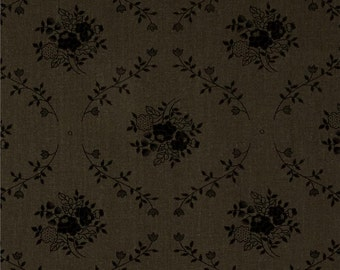 Grey Damask Fabric | Fleur Charcoal | sold by the Fat Quarter