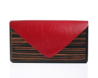 Lemnia Handcrafted Wooden Bag - Ebony Red