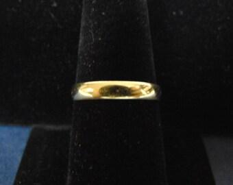 Vintage Estate 14k Yellow Gold Wedding Band Ring 2.2g E2390