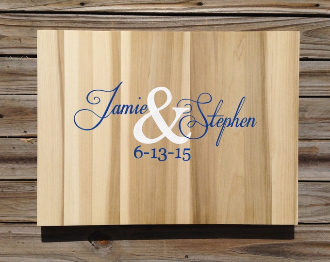Wedding Guest book Wood Sign, Rustic Guestbook With Decorative Pen