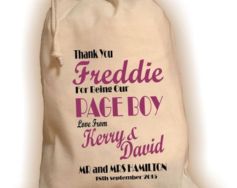 Personalised Page Boy Gift Bag - Various Sizes Available Freddie Design