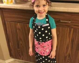 Girls Chef Hat and Matching Apron