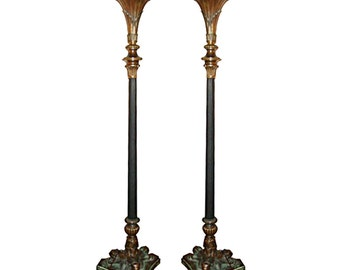 5889 Pair of Torcheres, Egyptian Revival 19th Century