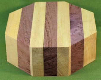 "Purpleheart & Yellowheart Striped Segmented Bowl Turning Blank, 6"" x 2"" -  FREE SHIPPING #400"