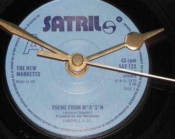 "The New Marketts theme from M*A*S*H 7"" vinyl record clock"