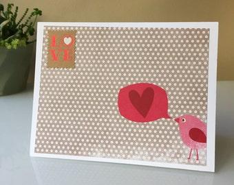 Love Bird, Valentines Day Card, Valentine