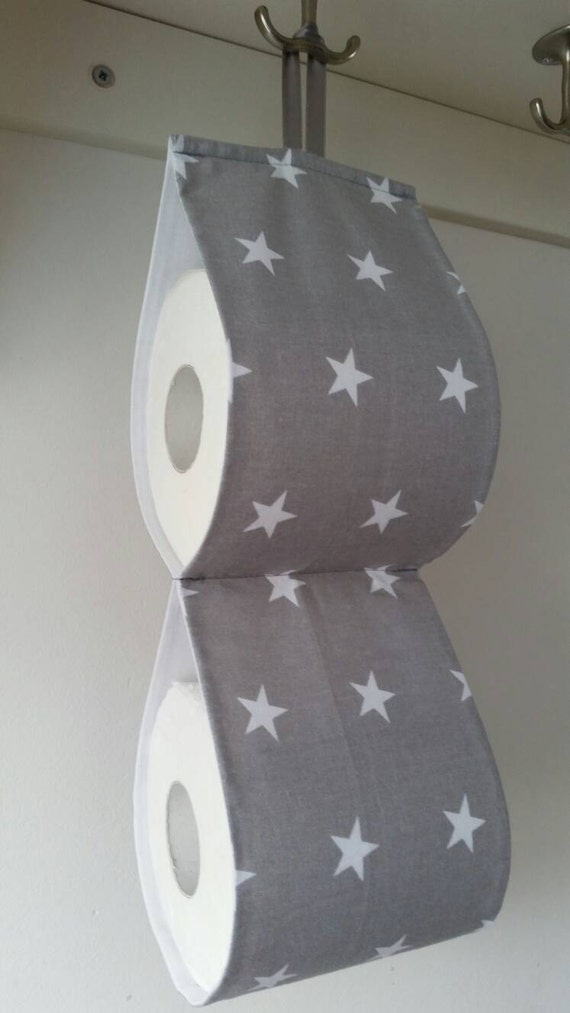 The Decorative Toilet Paper Holder Storage For 2 Rolls Grey