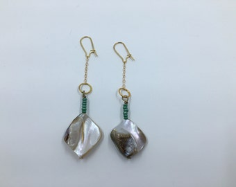 Natural Mother of Pearl Dangle Earring
