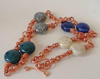 Copper & Ceramic Necklace