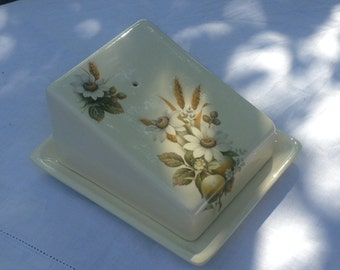 Vintage Harvest Butter/Cheese Dish from Brixham Pottery