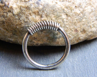Vintage Sterling Silver Coiled Ring