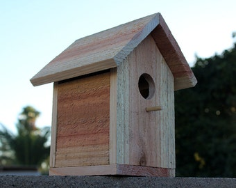 Cedar Bird House Handmade Wooden Bird Nest