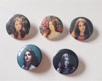 Lana del Rey Pinback Button Set of 5 (31mm)