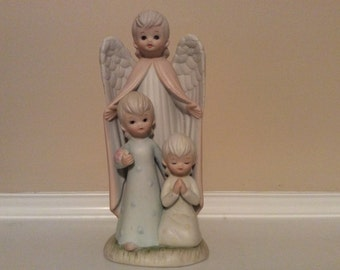 "Lefton China The Christopher Collection ""Guardian Angel"" with Children."