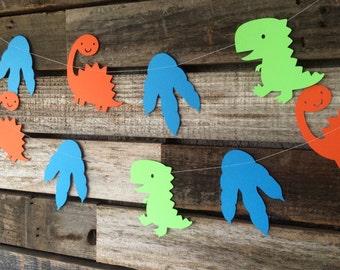 Dinosaur Party Garland - Baby Shower, Photo Prop, Birthday Party, First Birthday, Dinosaur Banner