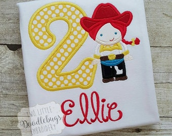 Birthday Cowgirl Jessie Inspired- Toy Story- Birthday Shirt-Embroidered Shirt-Cowgirl Birthday-Personalized Shirt-Girls-Disney Vacation