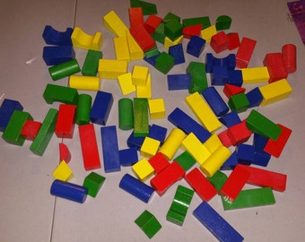 Color Wood Building Blocks