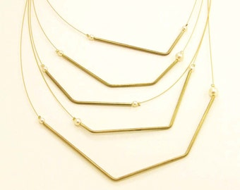 Multi Line Necklace