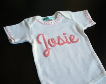 Cute Baby Clothes, Personalized Baby Gift, Baby Girl Bodysuit, Name Baby Clothes, Baby Shower Gift, Coming Home Outfit, Embroider, Romper