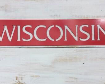 Wisconsin Steel Sign