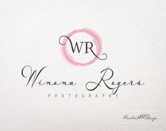 Initials logo design, Photography, Premade logo, Watermark, Watercolor logo 212