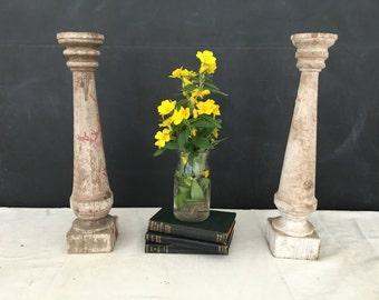 Vintage Wood Pillar - Architectural Salvage Post - Wooden Pillar -