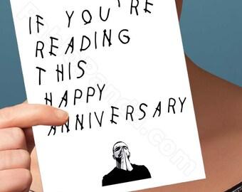 Funny Anniversary Card | Drake Card | Hotline Bling | Funny Card | Greeting Card | Drake Anniversary Card | Boyfriend Anniversary Card | OVO