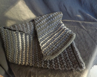 grey men scarf