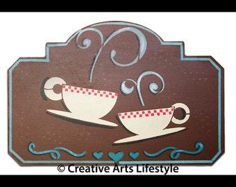 Tea Coffee Love Art Stencil - Select Size - STCL830 by StudioR12