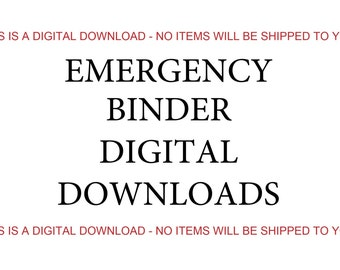 3-Week Emergency Food Supply List, Digital Download