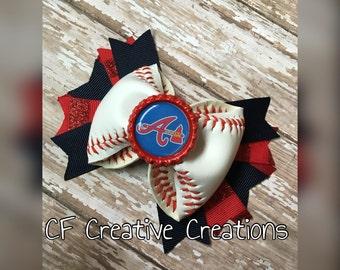 Atlanta Braves Baseball Bow