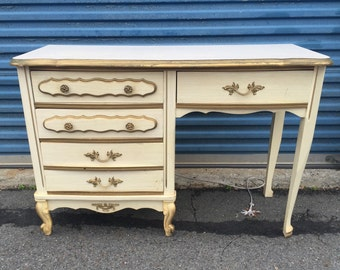 Vintage French Provincial Desk and Chair