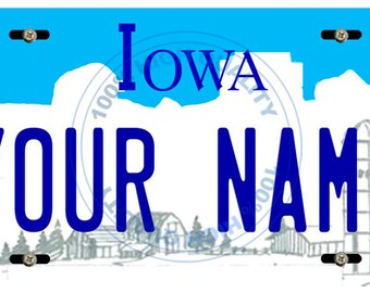 Personalized Custom Iowa Car Vehicle License Plate Auto Tag
