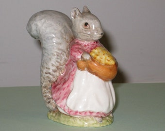 "Vintage 1970s BEATRIX POTTER ""Goody Tiptoes"" Figurine by F. Warne & Co. Ltd. Beswick, England (BP-3b backstamp)"