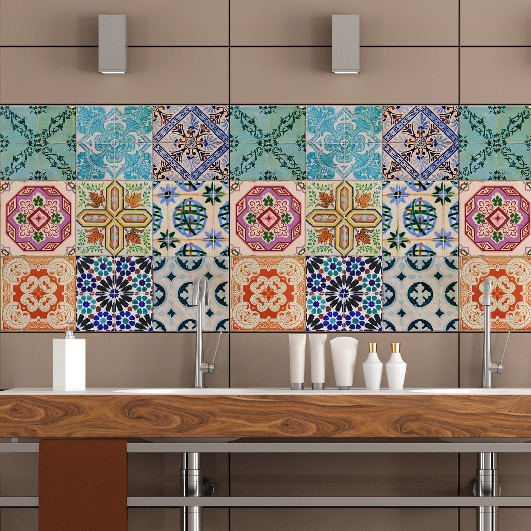 portuguese tiles stickers maceira pack of 16 tiles tile