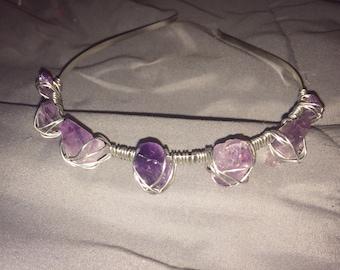 Amethyst Crystal Headband