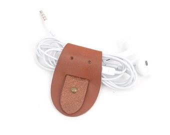 DIY Earphones holder ver.1. The DIY set for making the Earphones. Leather craft tools MLT-P0000BRT