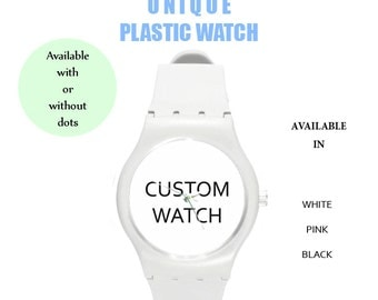 watch,plastic watch,personalized,custom,wrist watch,cute,gift,birthday gift,hipster,accessories,cheap,customize,own text,design,watches,