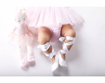 Baby girl shoes ballerina shoes toddler shoes infant shoes wedding shoes newborn shoesflower girl shoes white flats shoes - Ballet in white