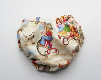 Diaper Cover Cowgirl Print READY TO SHIP