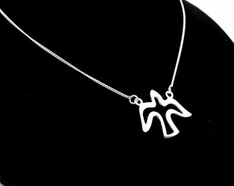 Sale! Sterling Silver Necklace, Dove Necklace,