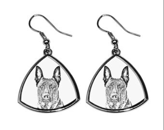 Dutch Shepherd- NEW collection of earrings with images of purebred dogs, unique gift