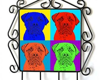 Bullmastiff- clothes hanger with an image of a dog. Collection. Andy Warhol Style