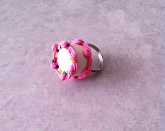 Fancy Cake ring, polymerclay