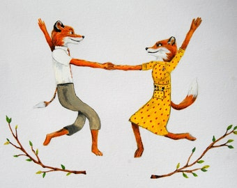 Fantastic Mr Fox print - Mr and Mrs Fox