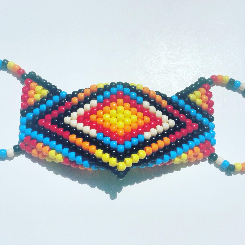 Tribal Kandi Mask, Native American Kandi Mask, Indian Kandi Mask, Sub Zero  Style
