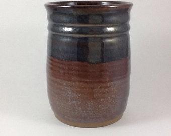 Utensil Jar, Pottery Spoon Holder, Stoneware Vase, Handmade