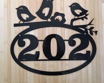 Three little birds Address sign