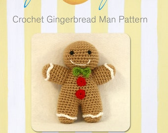 Super Cute Crochet Gingerbread Man Pattern